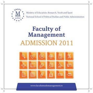 Faculty of Management - Facultatea de Management