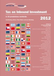 Getting the Deal Through. Tax on Inbound Investment 2012. Latvia ...