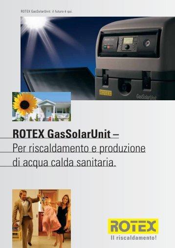 ROTEX GasSolarUnit – Per riscaldamento e ... - Pontani Service