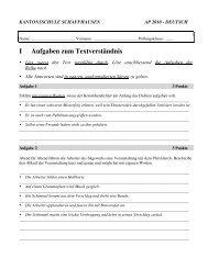 Deutsch 2. Sek 2010 - SchulArena.com