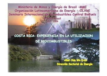 COSTA RICA: EXPERIENCIA EN LA UTILIZACION DE ...