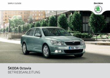 ÅKODA Octavia BETRIEBSANLEITUNG - Media Portal - Å¡koda auto