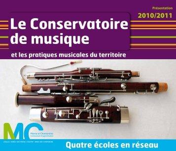 Le Conservatoire de musique - Communauté d'agglomération ...