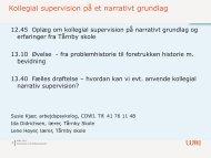 525: Kollegial supervision på et narrativt grundlag