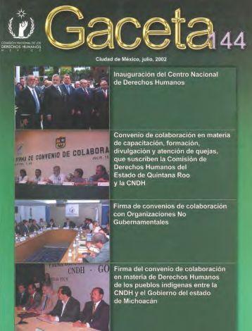 Gaceta N° 144 - Comisión Nacional de los Derechos Humanos
