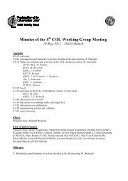 Minutes of the 4 COL Working Group Meeting - IERS