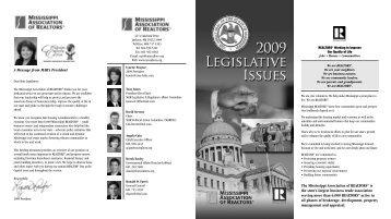 2009 Legislative Issues Guide - Mississippi Association of REALTORS