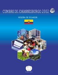 Cumbre de Johannesburgo Reseña Ecuador - Tecnologías Limpias