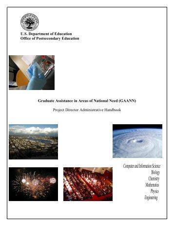 GAANN Handbook - Department of Biology