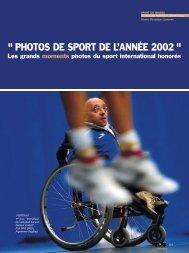 photos de sport de l'année 2002 - Magazine Sports et Loisirs