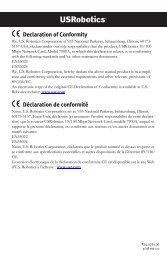 Declaration of Conformity Déclaration de conformité - U.S. Robotics