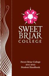 Student Handbook - Sweet Briar College