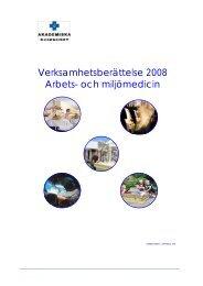 2008 - Arbets- och miljömedicin   Uppsala