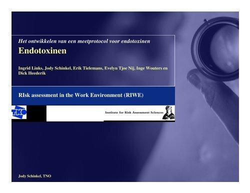 Ontwikkeling database endotoxinen