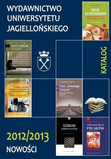 katalog nowości 2012 / 2013 - Wydawnictwo Uniwersytetu ...