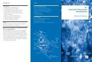 ITU Institut für Technischen Umweltschutz Wasserreinhaltung