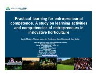 Practical learning for entrepreneurial competence. A study on ...