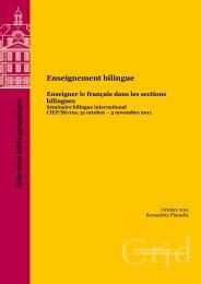 Enseigner le français dans les sections bilingues - CIEP