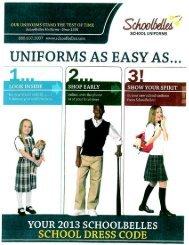 2013-2014_Schoolbelles_Uniform_flyer - All Saints Catholic Academy
