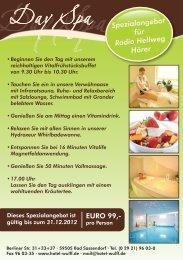 Spezialangebot für Radio Hellweg Hörer - Hotel Wulff