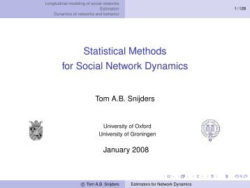 Statistical Methods for Social Network Dynamics - Fgamedia.org