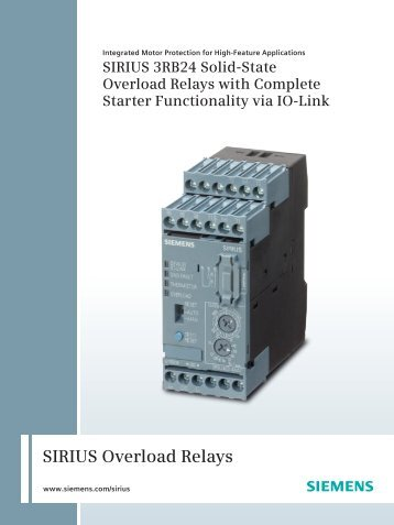 SIRIUS Overload Relays - Siemens