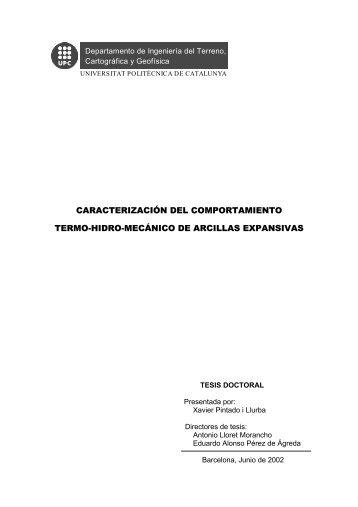 caracterización del comportamiento termo-hidro-mecánico de ... - TDX