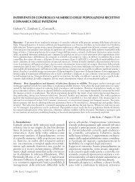 interventi di controllo numerico delle popolazioni recettive e ...