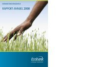 RAPPORT ANNUEL 2008 - Ecobank