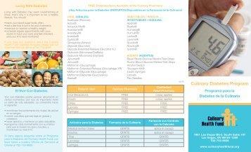 Culinary Diabetes Program - the Culinary Health Fund