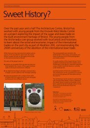 Sweet History project exhibition - The Architecture Centre