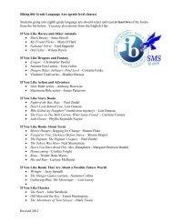 Revised 2012 Rising 8th Grade Language Arts (grade level classes ...