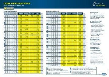 Timetable - Rail Plus
