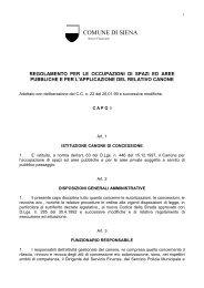 REGOLAMENTO COSAP - Comune di Siena