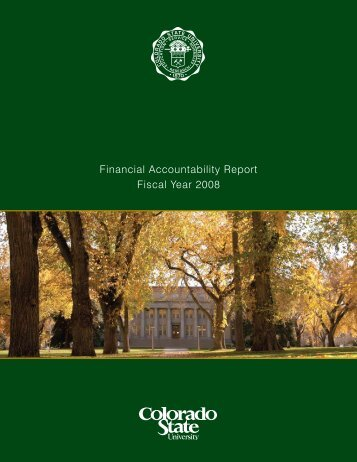 2008 - Business and Financial Services - Colorado State University