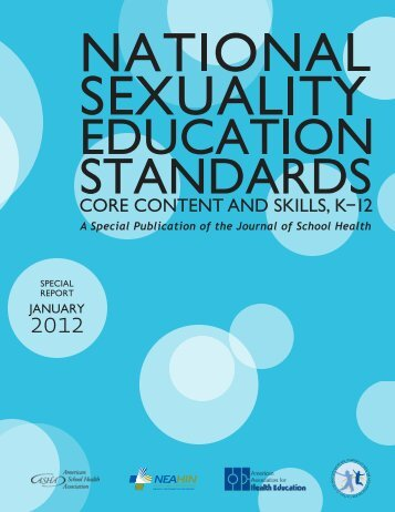 National Sexuality Education Standards - American School Health ...