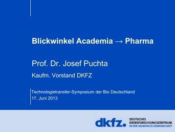 Vortrag von Prof. Dr. Josef Puchta - BIO Deutschland