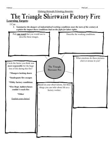 Quiz & Worksheet: Triangle Shirtwaist Factory Fire | Study.com