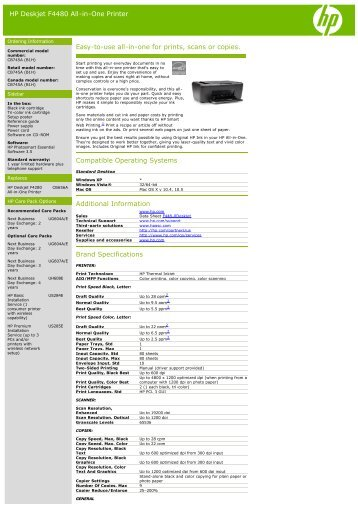 HP Deskjet F4480 All-in-One Printer Easy-to-use all-in ... - Officeworks
