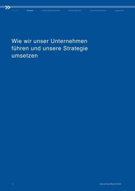 Wie wir unser Unternehmen führen und unsere ... - Beiersdorf
