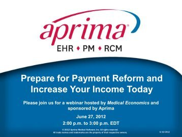 Prepare for Payment Reform and Increase Your Income Today