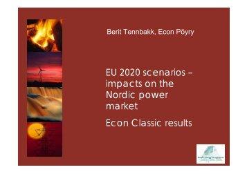 EU 2020 scenarios - Nordicenergyperspectives.org