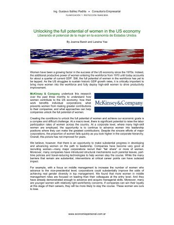 Unlocking the full potential of women in the US economy - Economía ...