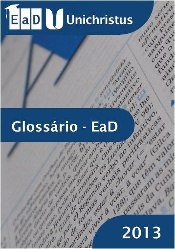 Glossário - EaD - Faculdade Christus