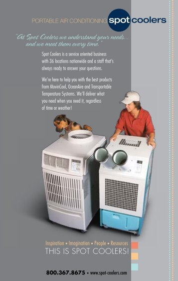 """""""At Spot Coolers we understand your needs... and we meet them ..."""