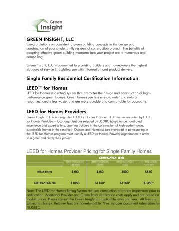 Leed for homes rating system updated april 2013 us green for Leed for homes rating system