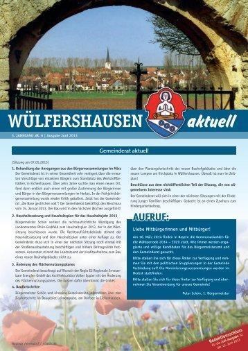 Ausgabe 06/2013 - Onlineseite der Gemeinde Wülfershausen ad ...