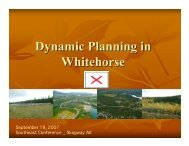 Dynamic Planning in Whitehorse - Southeast Conference