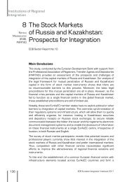 The Stock Markets of Russia and Kazakhstan: Prospects for Integration