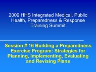 Building a Preparedness Exercise Program - The 2012 Integrated ...